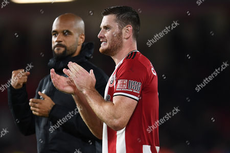 Jack O'Connell of Sheffield United and David McGoldrick of Sheffield United.