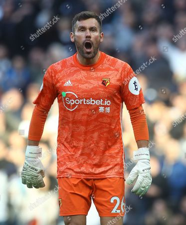 Ben Foster of Watford shows a look of frustration after conceding the equalising goal by Dele Alli of Tottenham Hotspur
