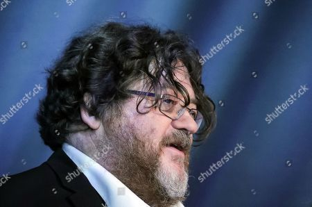Stock Picture of Scottish author John Burnside speaks during an interview at Frankfurt Book Fair 2019 in Frankfurt Main, Germany, 17 October, 2019. The 71st edition of the international Frankfurt Book Fair, described as the world's most important fair for the print and digital content business, runs from 16 to 20 October and gathers authors, writers and celebrities from all over the world.