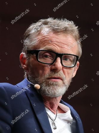 Stock Photo of Norwegian author Jo Nesbo during presentation of his new book 'Knife' at the book fair Frankfurter Buchmesse 2019, in Frankfurt am Main, Germany, 17 October 2019. The 71st edition of the international Frankfurt Book Fair, considered the world's most important fair for the print and digital content business, runs from 16 to 20 October 2019 and gathers writers and celebrities from all over the world. This year's Guest of Honor Country is Norway.