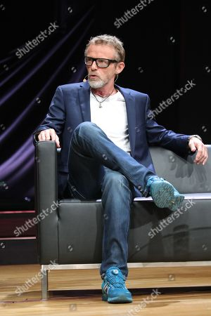 Stock Picture of Norwegian author Jo Nesbo during presentation of his new book 'Knife' at the book fair Frankfurter Buchmesse 2019, in Frankfurt am Main, Germany, 17 October 2019. The 71st edition of the international Frankfurt Book Fair, considered the world's most important fair for the print and digital content business, runs from 16 to 20 October 2019 and gathers writers and celebrities from all over the world. This year's Guest of Honor Country is Norway.