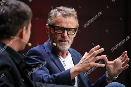 Norwegian author Jo Nesbo during presentation of his new book 'Knife' at the book fair Frankfurter Buchmesse 2019, in Frankfurt am Main, Germany, 17 October 2019. The 71st edition of the international Frankfurt Book Fair, considered the world's most important fair for the print and digital content business, runs from 16 to 20 October 2019 and gathers writers and celebrities from all over the world. This year's Guest of Honor Country is Norway.