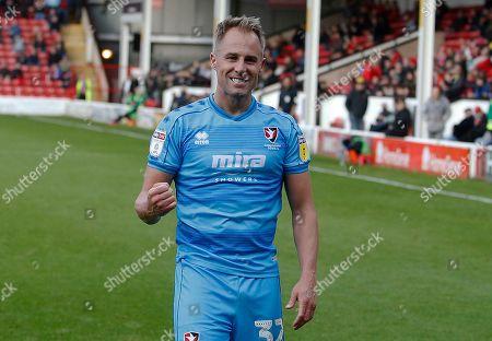 Cheltenham Town's Luke Varney celebrates his goal