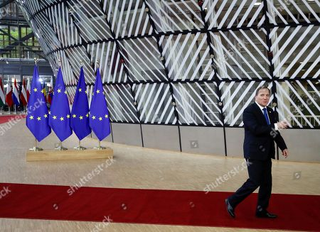 Swedish Prime Minister Stefan Lofven arrives for an EU summit at the Europa building in Brussels,. Britain and the European Union reached a new tentative Brexit deal on Thursday, hoping to finally escape the acrimony, divisions and frustration of their three-year divorce battle