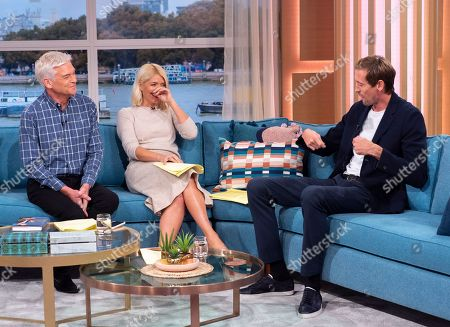 Phillip Schofield and Holly Willoughby with Peter Crouch