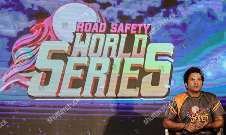 Former Indian cricketer Sachin Tendulkar attends the pesentation of the Road Safety World Series T20 cricket tournament in Mumbai, India, 17 October 2019. The tournament is scheduled to be held in India from 02 February until 16 February 2020.