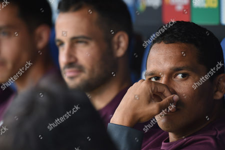 Stock Picture of Carlos Bacca of Villarreal CF on the bench before the kick off