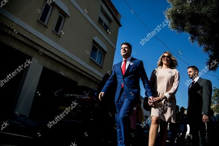 Chief Minister of gibraltar Fabian Picardo as he exits a pooling station during general elections in Gibraltar, . An election for Gibraltar's 17-seat parliament is taking place Thursday under a cloud of uncertainty about what Brexit will bring for this British territory on Spain's southern tip