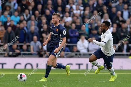 Tom Cleverley of Watford in action during the Premier League match between Tottenham Hotspur and Watford at The Tottenham Hotspur Stadium in London, UK - 19th October 2019