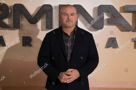 Tim Miller poses for photographers upon arrival at the photo call of 'Terminator: Dark Fate' at a central London hotel