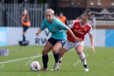 Editorial image of Arsenal Women v Charlton Athletic Women, Barclays FA Women's Continental League Cup, Football, Meadow Park, Borehamwood, UK - 20 Oct 2019