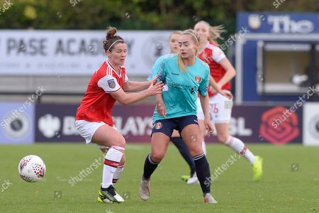 Editorial picture of Arsenal Women v Charlton Athletic Women, Barclays FA Women's Continental League Cup, Football, Meadow Park, Borehamwood, UK - 20 Oct 2019