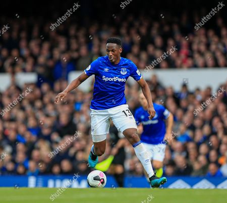 19th October 2019, Goodison Park, Liverpool, England; Premier League, Everton v West Ham United : Yerry Mina (13) of Everton runs with the ball