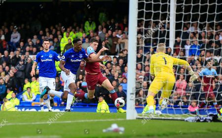 Editorial picture of Everton v West Ham United, Premier League, Football, Goodison Park, Liverpool, UK - 19 Oct 2019