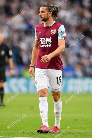 19th October 2019, King Power Stadium, Leicester, England; Premier League, Leicester City v Burnley : Jay Rodriguez (19) of Burnley 