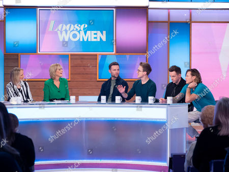 Christine Lampard, Stacey Solomon, Carol McGiffin and Jane Moore with McFly - Tom Fletcher, Danny Jones, Dougie Poynter and Harry Judd