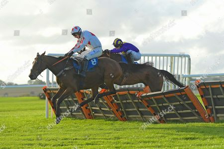 Winner of The Starsports.bet Handicap Hurdle Demon For ridden by Matt Griffiths and trained by Jeremy Scott during Horse Racing at Wincanton Racecourse on 17th October 2019