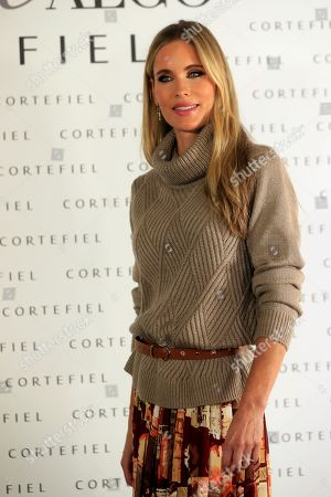 Swedish model Helen Svedin poses during the presentation of Cortefiel's new campaign in Madrid, Spain, 17 October 2019. Svedin and her husband, former soccer player Luis Figo, are the new image of Cortefiel's Autum-Winter collection.