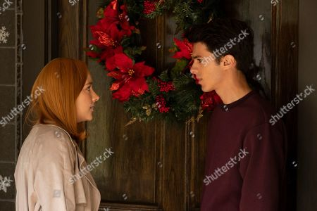 Haley Ramm as Violet Simmons and Brent Rivera as Isaac Salcedo