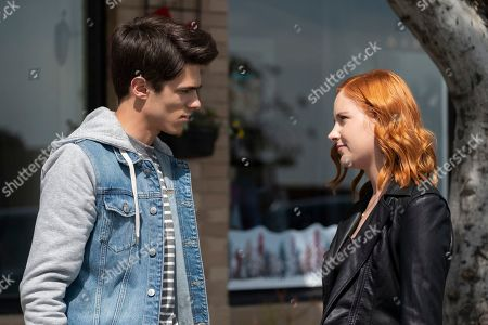 Brent Rivera as Isaac Salcedo and Haley Ramm as Violet Simmons