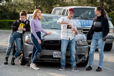 Katelyn Nacon as Sammi Karras, Haley Ramm as Violet Simmons, Froy Gutierrez as Ridge Reyes and Kira Kosarin as Nadia Dando