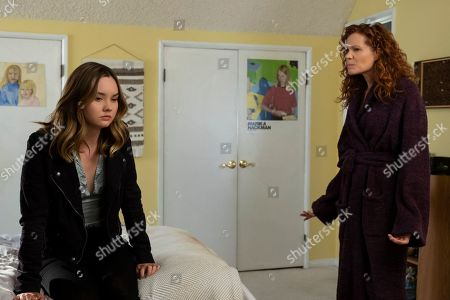 Liana Liberato as McKenna Brady/Jennie Brady and Robyn Lively as Deb Brady