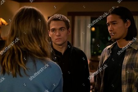Liana Liberato as McKenna Brady/Jennie Brady, Dylan Sprayberry as Henry Richmond and Jordan Rodrigues as Trey Emory