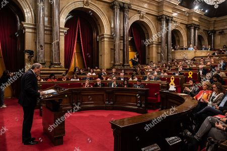 Editorial picture of Catalan regional President appears at Catalan Parliament, Barcelona, Spain - 17 Oct 2019