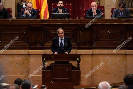 Joaquim Torra president of Catalonia during the plenary session