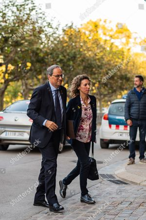 Editorial image of Catalan regional President appears at Catalan Parliament, Barcelona, Spain - 17 Oct 2019