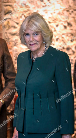Camilla Duchess of Cornwall during a visit to the Ditchling Museum of Art + Craft in Sussex, to view their Typography exhibition 'Kitching in Ditchling' and the new exhibition Disruption, Devotion + Distributism.