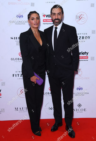 Robert Pires and wife Jessica