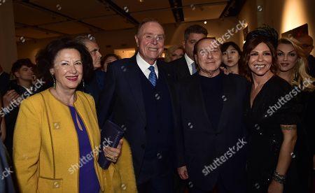 Lina Tombolato, Ennio Doris, Silvio Berlusconi, Luna and Francesca Pascale