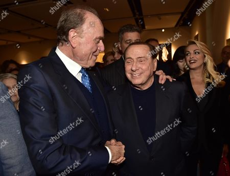 Silvio Berlusconi and Ennio Doris