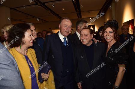 Stock Picture of Lina Tombolato, Ennio Doris, Silvio Berlusconi and Luna