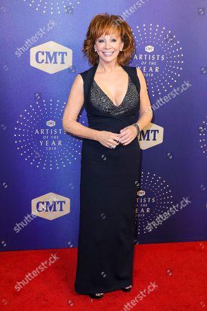 Reba McEntire arrives at 2019 CMT Artists of the Year at Schermerhorn Symphony Center, in Nashville, Tenn