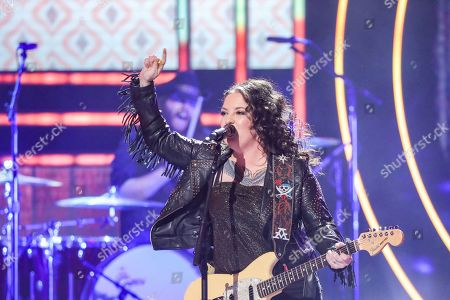 Stock Image of Ashley McBryde performs at 2019 CMT Artists of the Year at Schermerhorn Symphony Center, in Nashville, Tenn