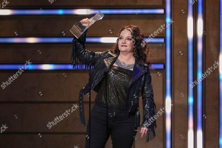 Ashley McBryde accepts her Breakout Artist of the Year Award at 2019 CMT Artists of the Year at Schermerhorn Symphony Center, in Nashville, Tenn