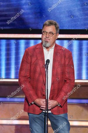 Vince Gill speaks at 2019 CMT Artists of the Year at Schermerhorn Symphony Center, in Nashville, Tenn