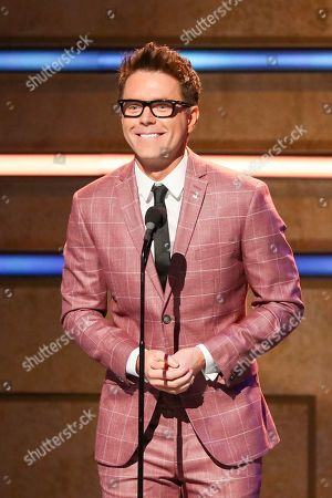 Bobby Bones speaks at 2019 CMT Artists of the Year at Schermerhorn Symphony Center, in Nashville, Tenn