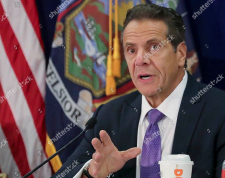 New York Gov. Andrew Cuomo addresses a regional summit of governors on public health issues around cannabis and vaping, in New York