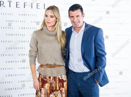 Luis Figo and Helen Svedin