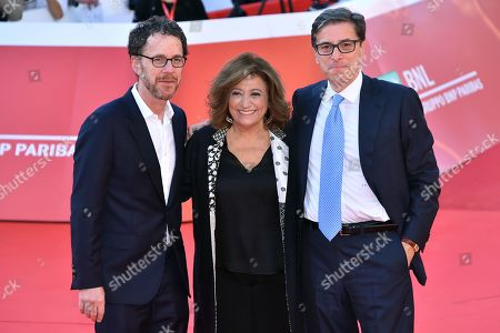 Ethan Coen with Laura delli Colli and Antonio Monda