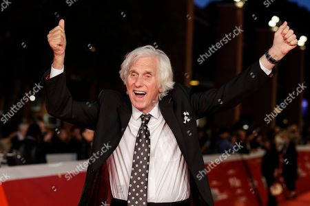 Photographer Douglas Kirkland poses on the red carpet, at the Rome Film Fest, in Rome