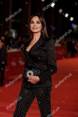 Italian actress Maria Grazia Cucinotta poses, at the Rome Film Fest, in Rome