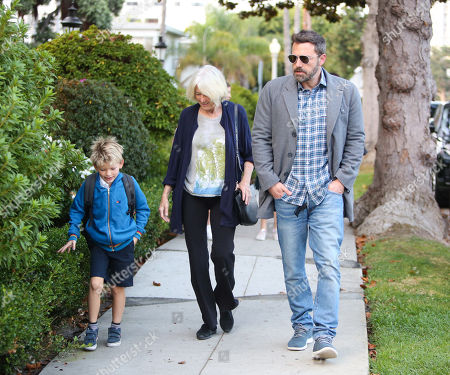 Stock Photo of Ben Affleck, Samuel Affleck and Christine Anne Boldt