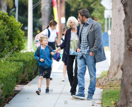 Stock Picture of Ben Affleck, Samuel Affleck and Christine Anne Boldt