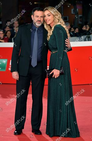 Italian movie director Fausto Brizzi (L) and his fiance Silvia Salis arrive for the screening of the movie 'Motherless Brooklyn' at the 14th annual Rome Film Festival, in Rome, Italy, 17 October 2019. The film festival runs from 17 to 27 October.