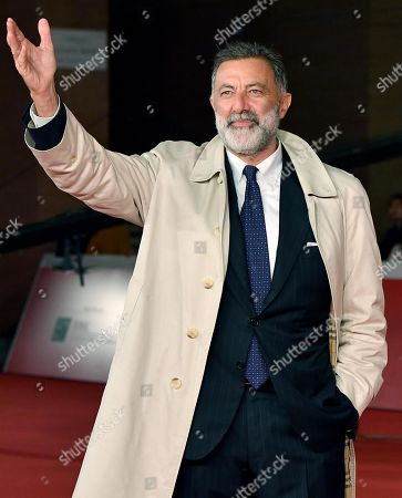 Luca Barbareschi arrives for the screening of the movie 'Motherless Brooklyn' at the 14th annual Rome Film Festival, in Rome, Italy, 17 October 2019. The film festival runs from 17 to 27 October.