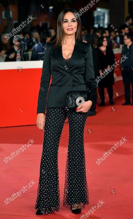 Maria Grazia Cucinotta arrives for the screening of the movie 'Motherless Brooklyn' at the 14th annual Rome Film Festival, in Rome, Italy, 17 October 2019. The film festival runs from 17 to 27 October.